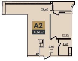 Однокомнатная - ЖК Graf (Граф)$108720Площадь:60.4m²