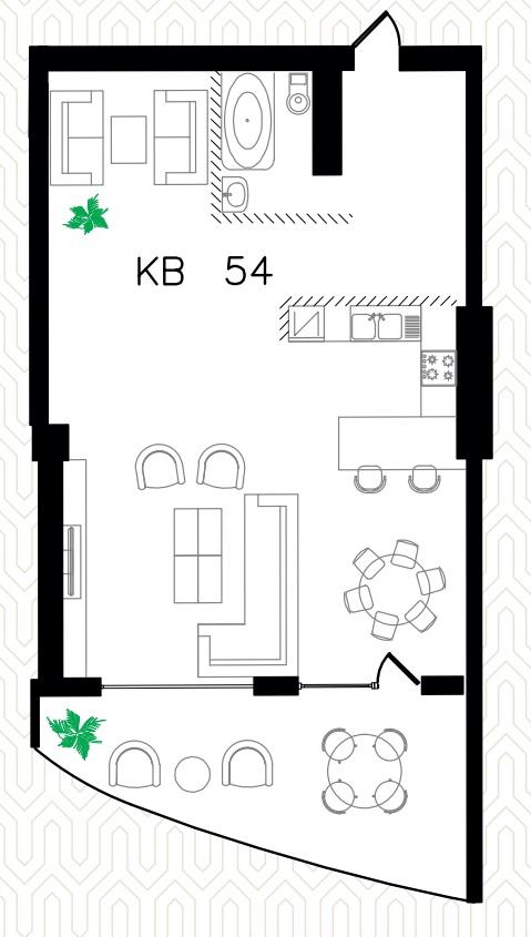 Однокомнатная - ЖК Ланжерон$170000Площадь:86.7m²
