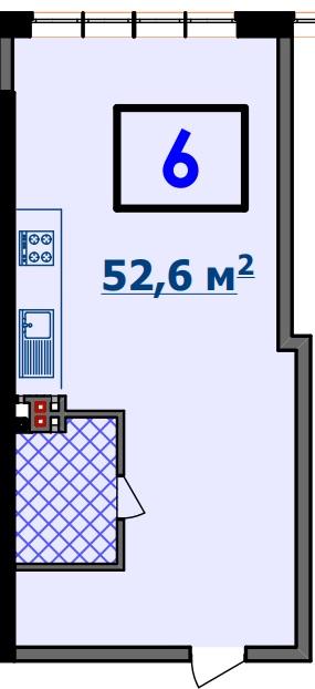 Однокомнатная - ЖК Курортный$44554Площадь:53.04m²