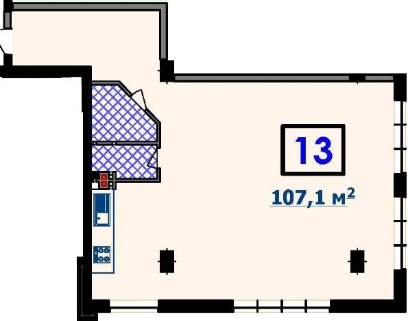 Двухкомнатная - ЖК Курортный$91035Площадь:107.1m²