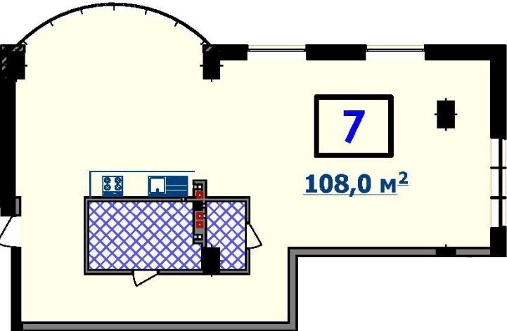 Двухкомнатная - ЖК Курортный$99085Площадь:104.3m²