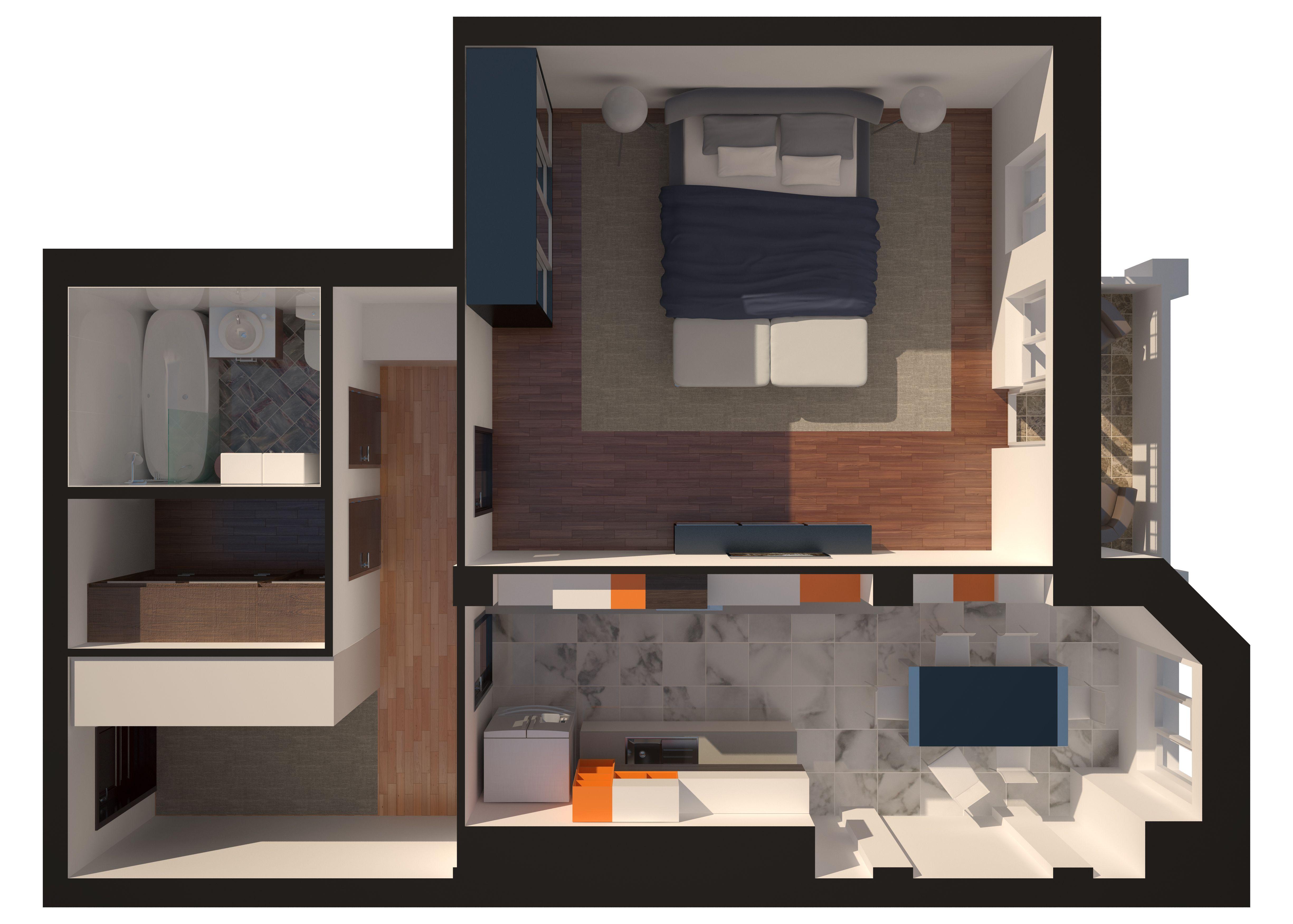Однокомнатная - Зеленый Мыс Английский дом 4$62342Площадь:74.7m²
