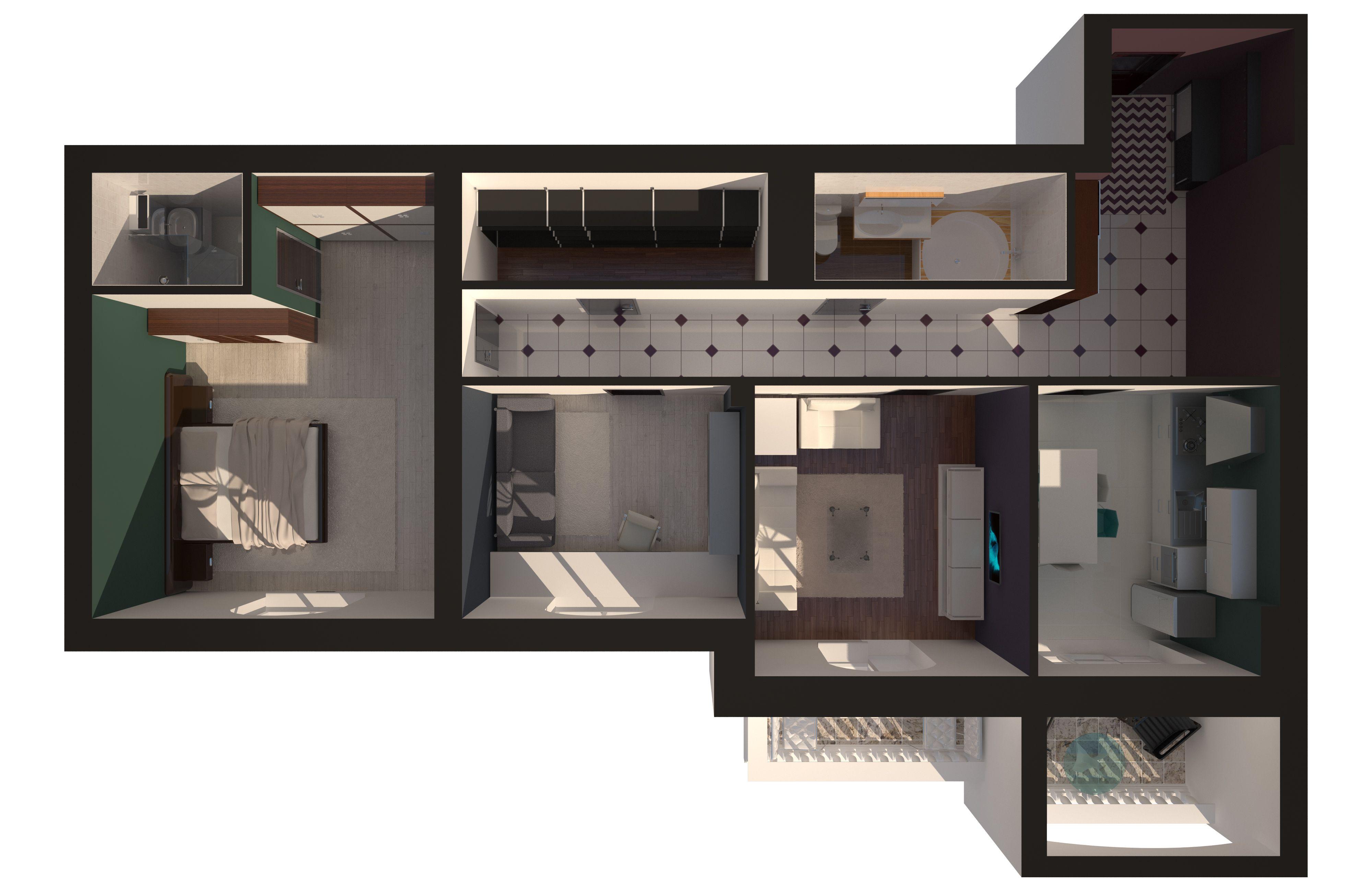 Трехкомнатная - Зеленый Мыс Premium Residence$98508Площадь:109.15m²