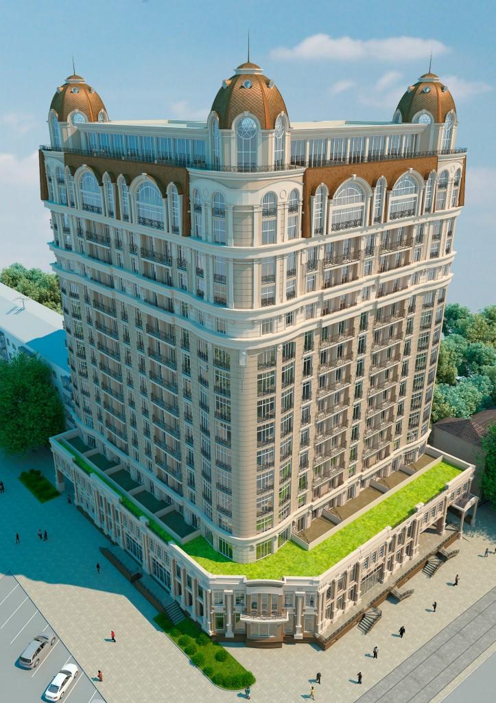 ЖК Бельэтаж Дом на Белинского сверху