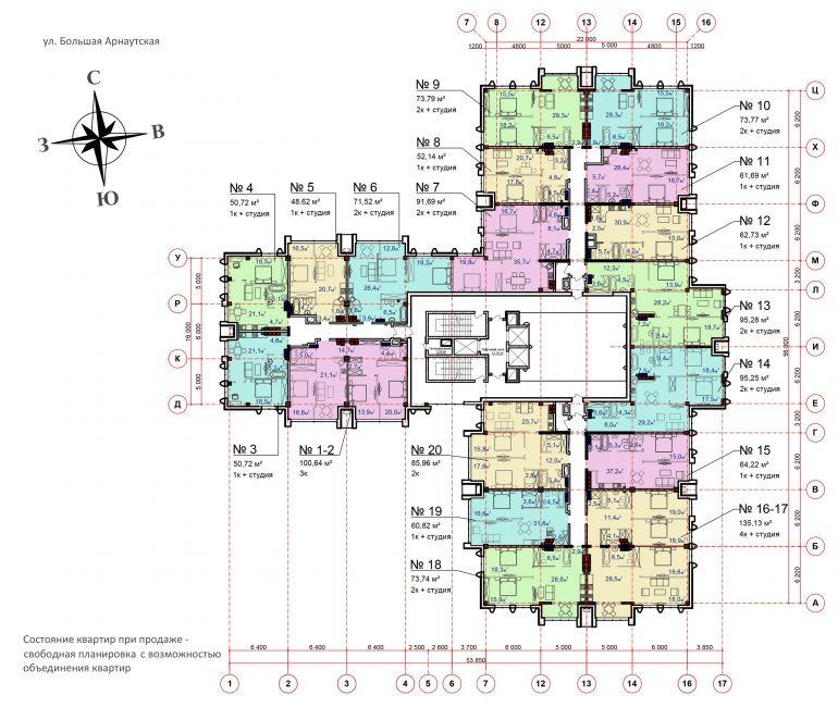 Башня Чкалов планировки