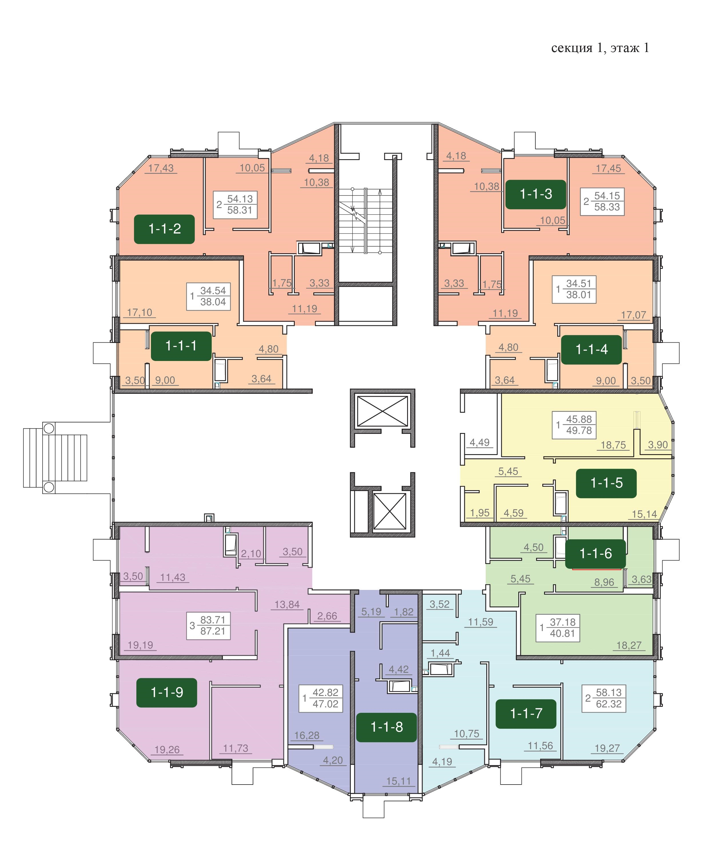 24-я жемчужина планировка этажа 1