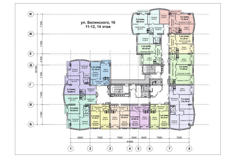 ЖК Бельэтаж план 11-12 этажа