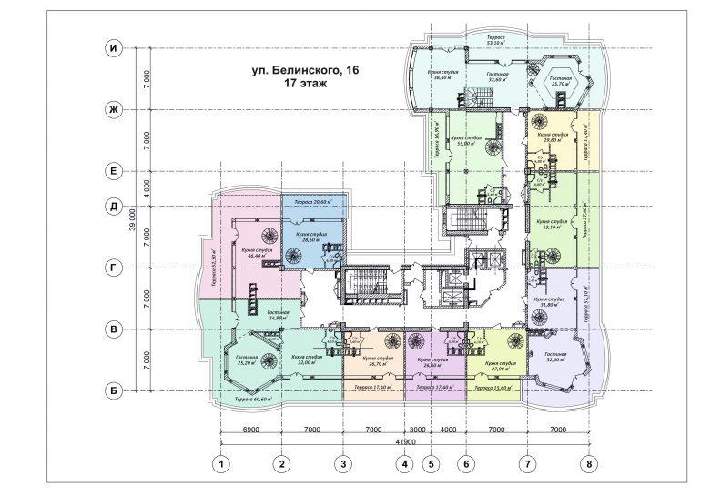 ЖК Бельэтаж план 17 этажа