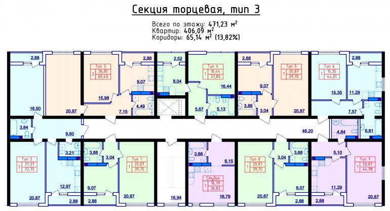 ЖК Сити Парк планировка этажа