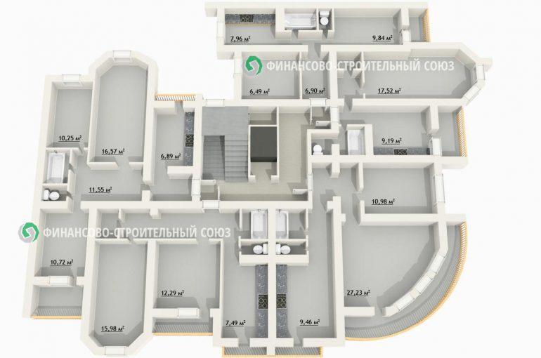 ЖК Новый квартал планировка секции 3