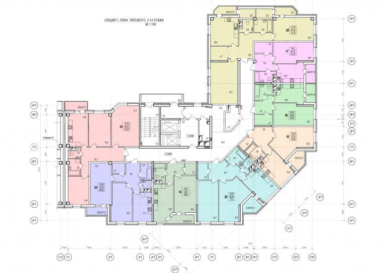 Стикон-Дмитриевский секция 1, этаж 2-14