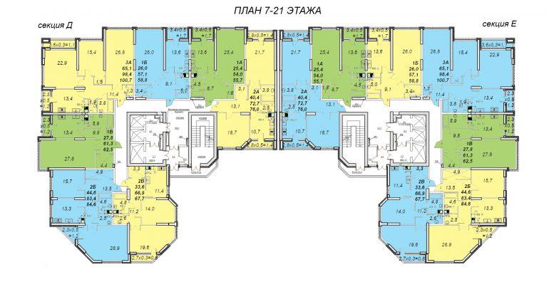 Стикон Новостройка ЖК Французский, этаж 7-21