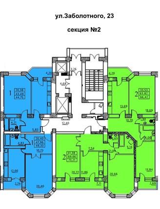 ЖК Идеал 2 планировка секции 2
