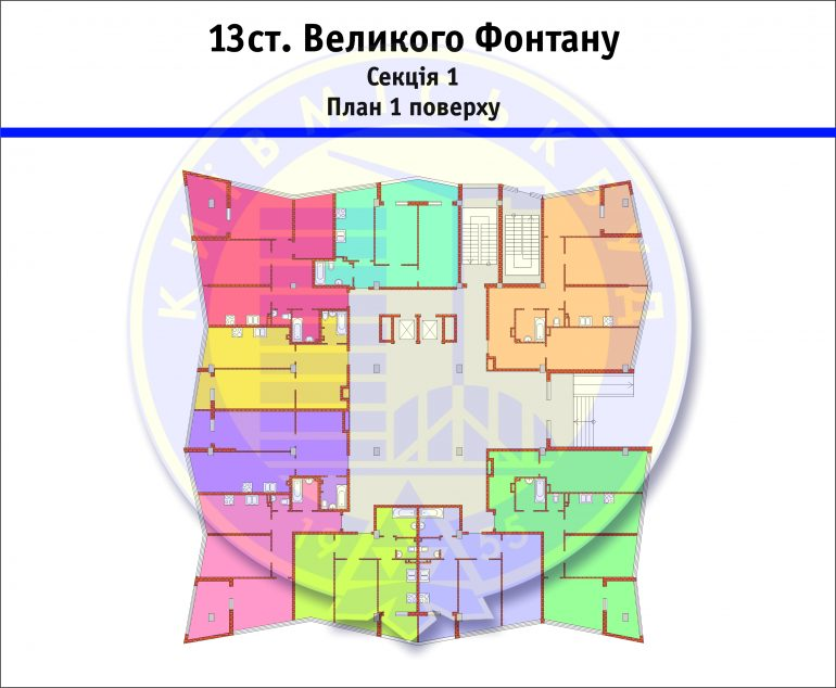 ЖК 3D 13 ст. Большого Фонтана планировка