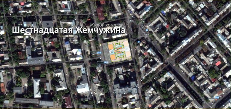 Кадорр, 16 и 17 Жемчужины, на карте Одессы