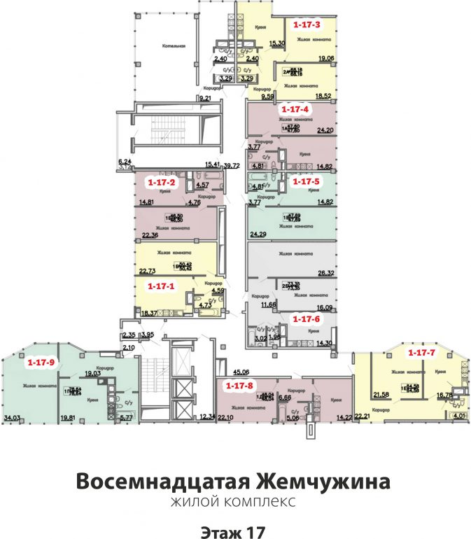 Кадорр, 18 Жемчужина, Планировка этаж 17