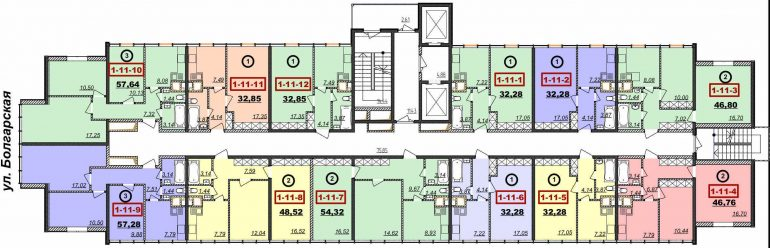 Кадорр, 22 Жемчужина, Планировка, этаж 6-14