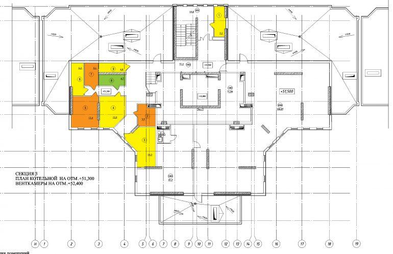 Планировка ЖК Романовский Стикон. Секция 3, этаж 18