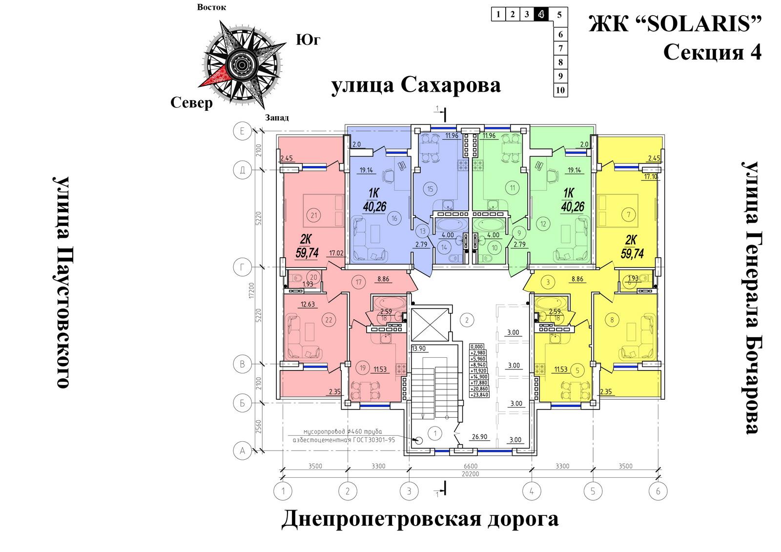 ЖК Солярис новострой Суворовский район секция 4