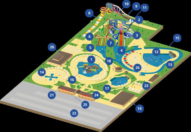 Аквапарк Одесса план