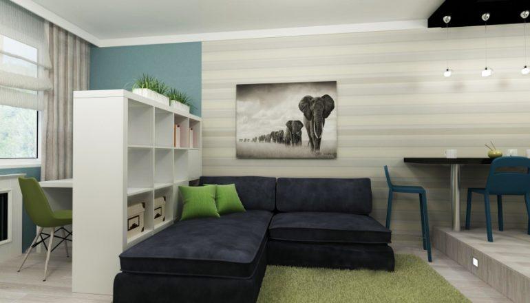 Предметы мебели для зонирования