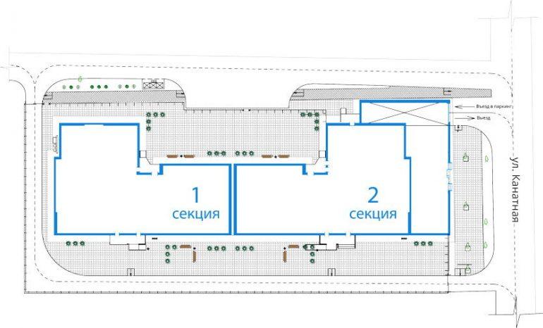 ЖК Мандарин / План застройки и благоустройства территории