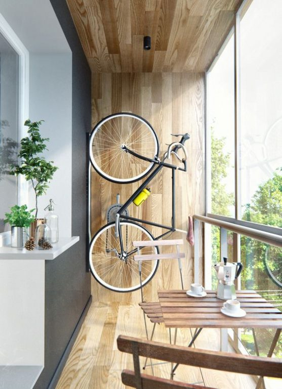 размещение велосипеда на стене