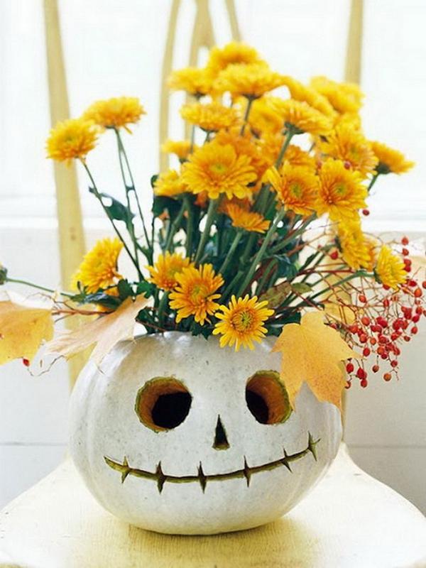 ваза тыква к хэллоуину