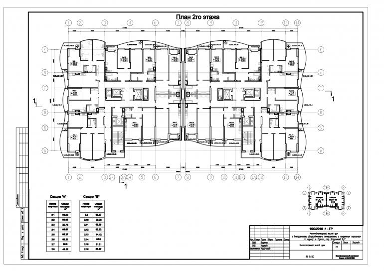 ЖК Корфу планировка типового этажа