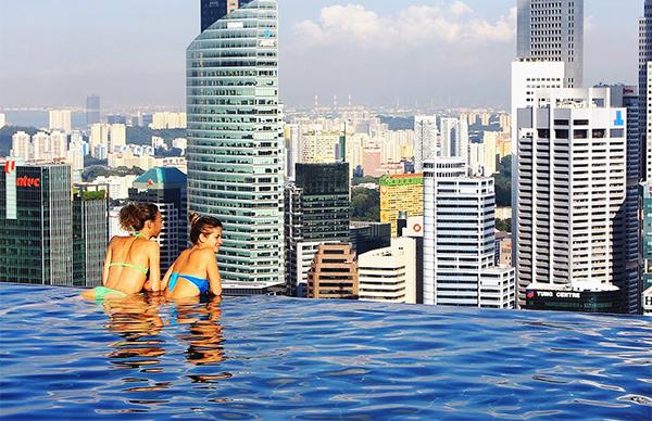 MARINA BAY SANDS HOTEL, СИНГАПУР бассейн