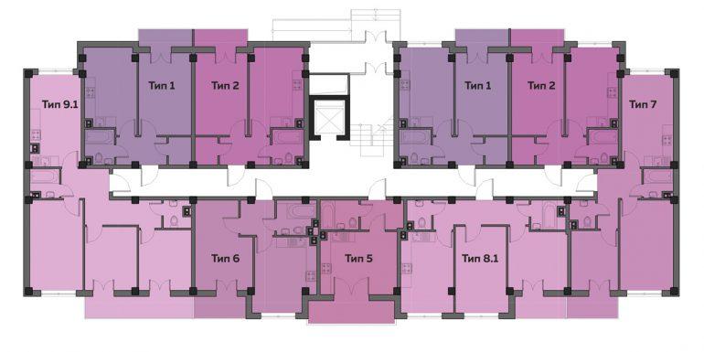 ЖК Артвиль Моне дом 10 Планировка первого этажа