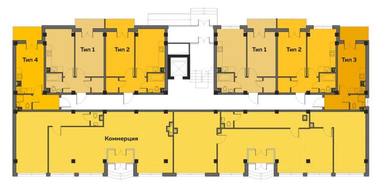 ЖК Артвиль Диана дом 1 Планировка 1-го этажа