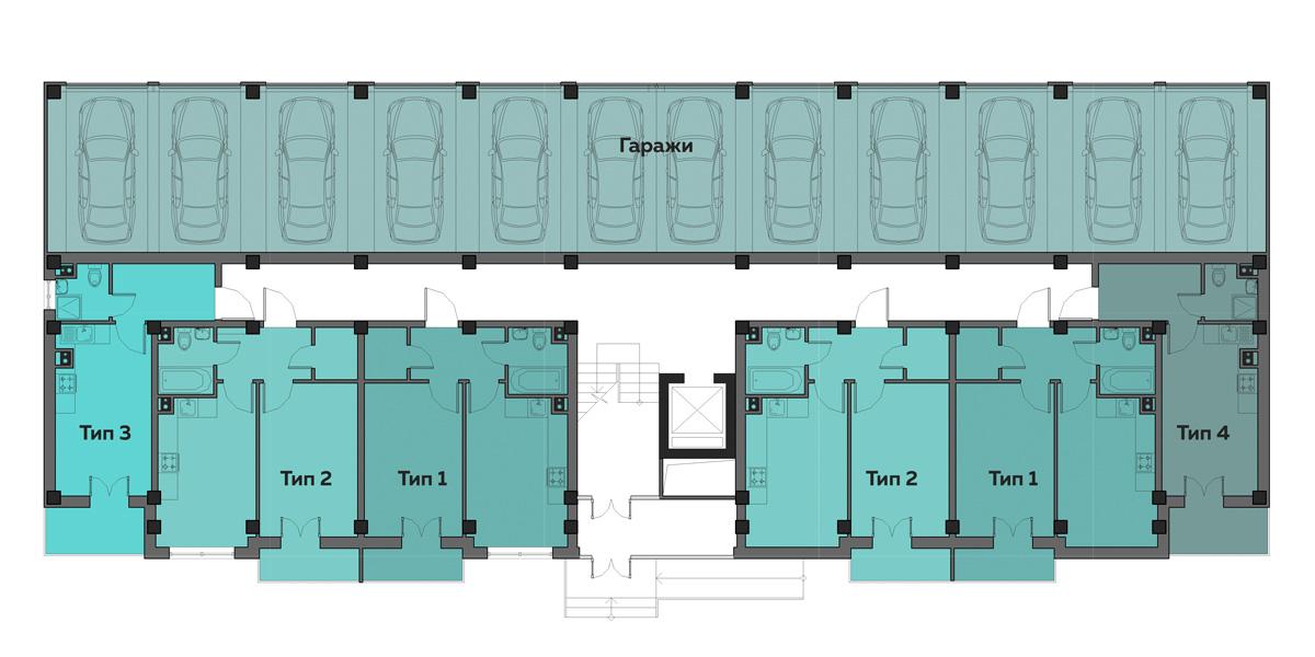 ЖК Артвиль Густав дом 13 Планировка 1-го этажа