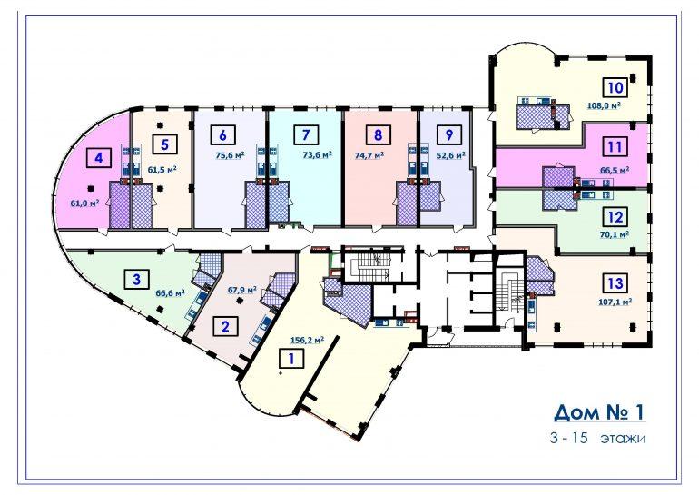 ЖК Курортный Новострой в Одессе СК Микромегас Дом 1 3-15 этажи