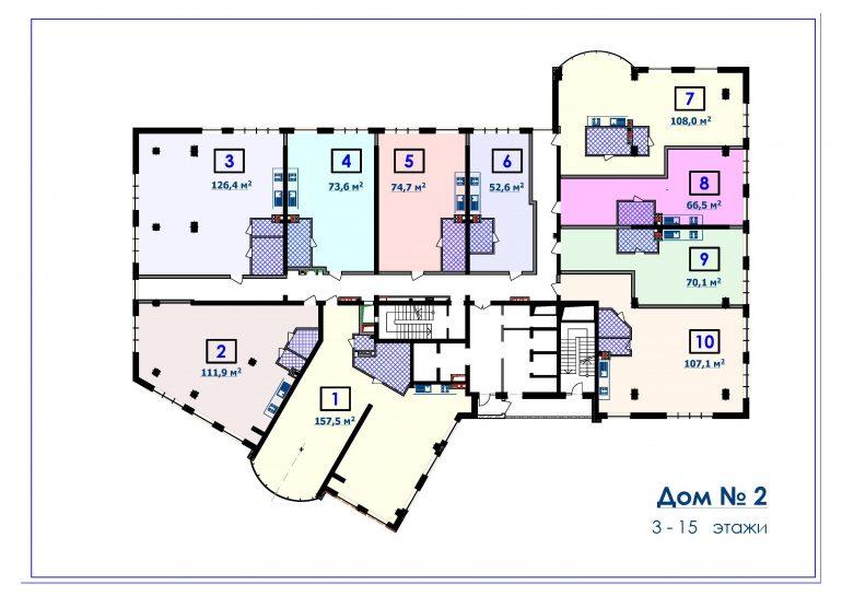 ЖК Курортный Новострой в Одессе СК Микромегас Дом 2 3-15 этажи