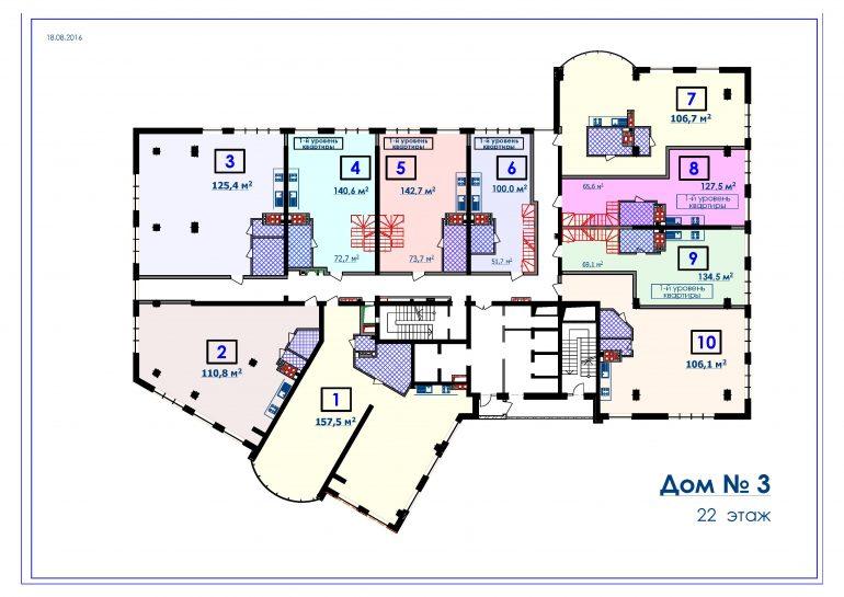 ЖК Курортный Новострой в Одессе СК Микромегас Дом 3 22 этаж
