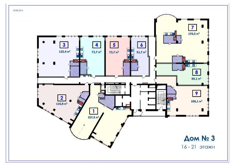 ЖК Курортный Новострой в Одессе СК Микромегас Дом 3 6-21 этажи