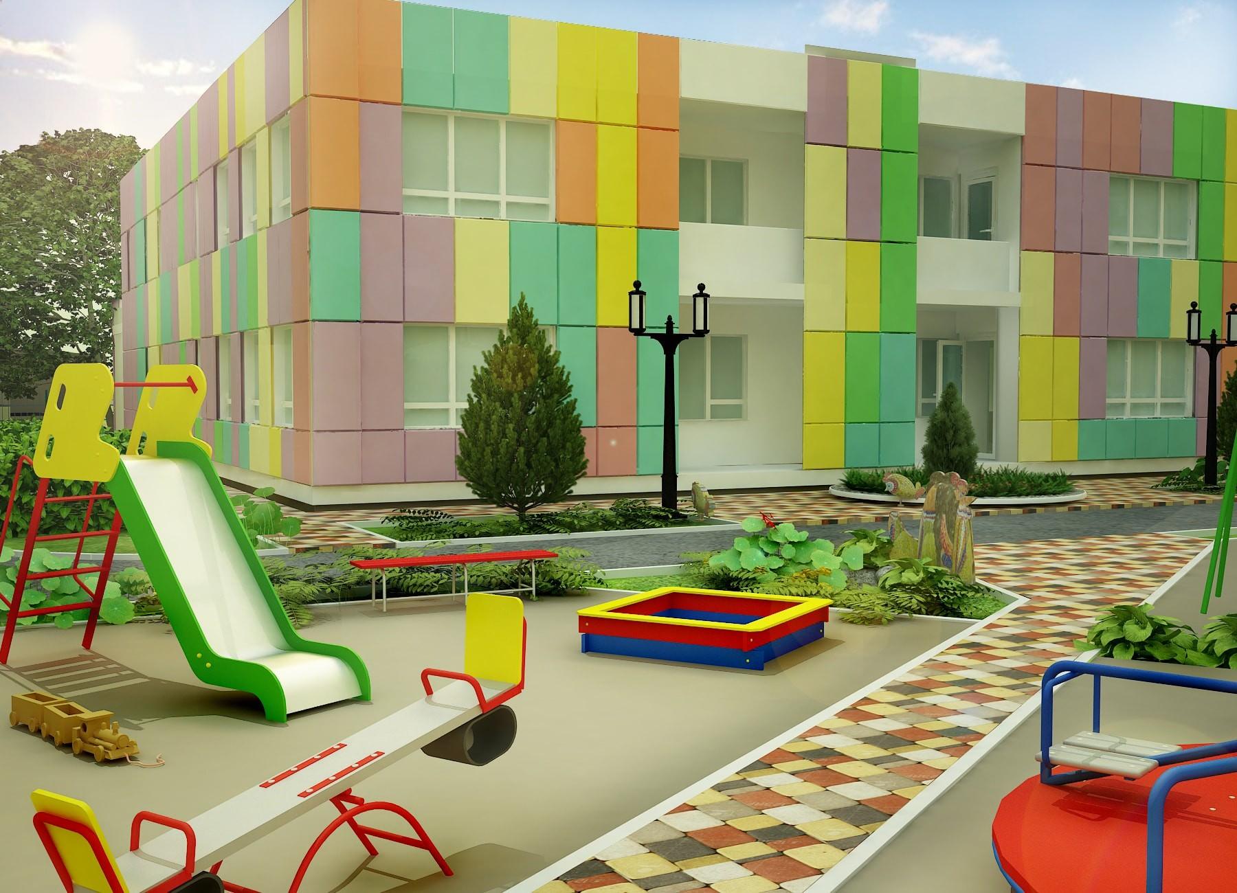 Детский сад в строящемся ЖК Солнечный город