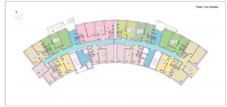ЖК 42 Жемчужина План 1 этажа