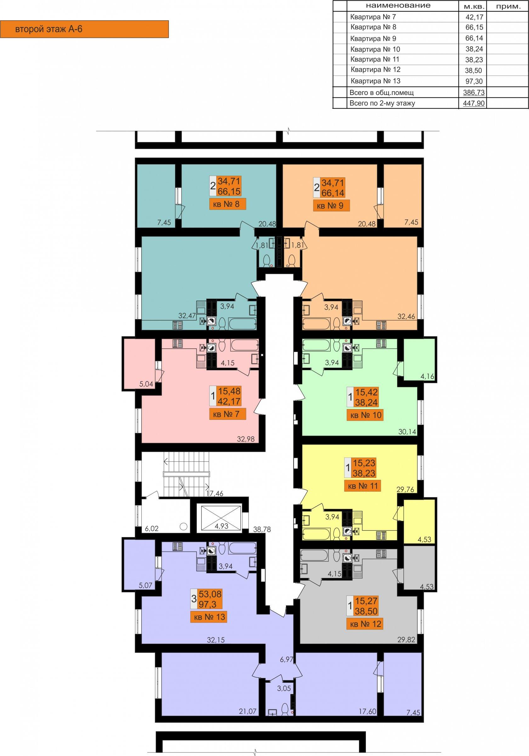 ЖК Ривьера Сити Секция А6 типовой этаж