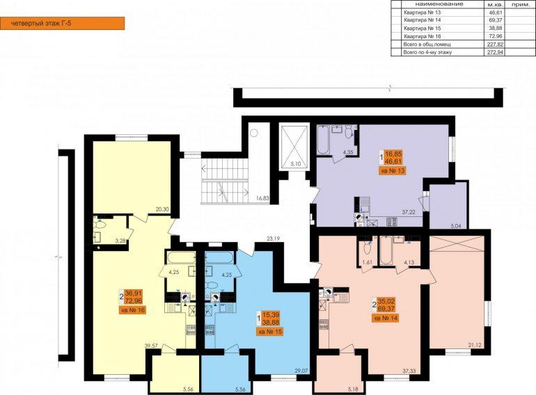 ЖК Ривьера Сити Секция Г5 типовой этаж