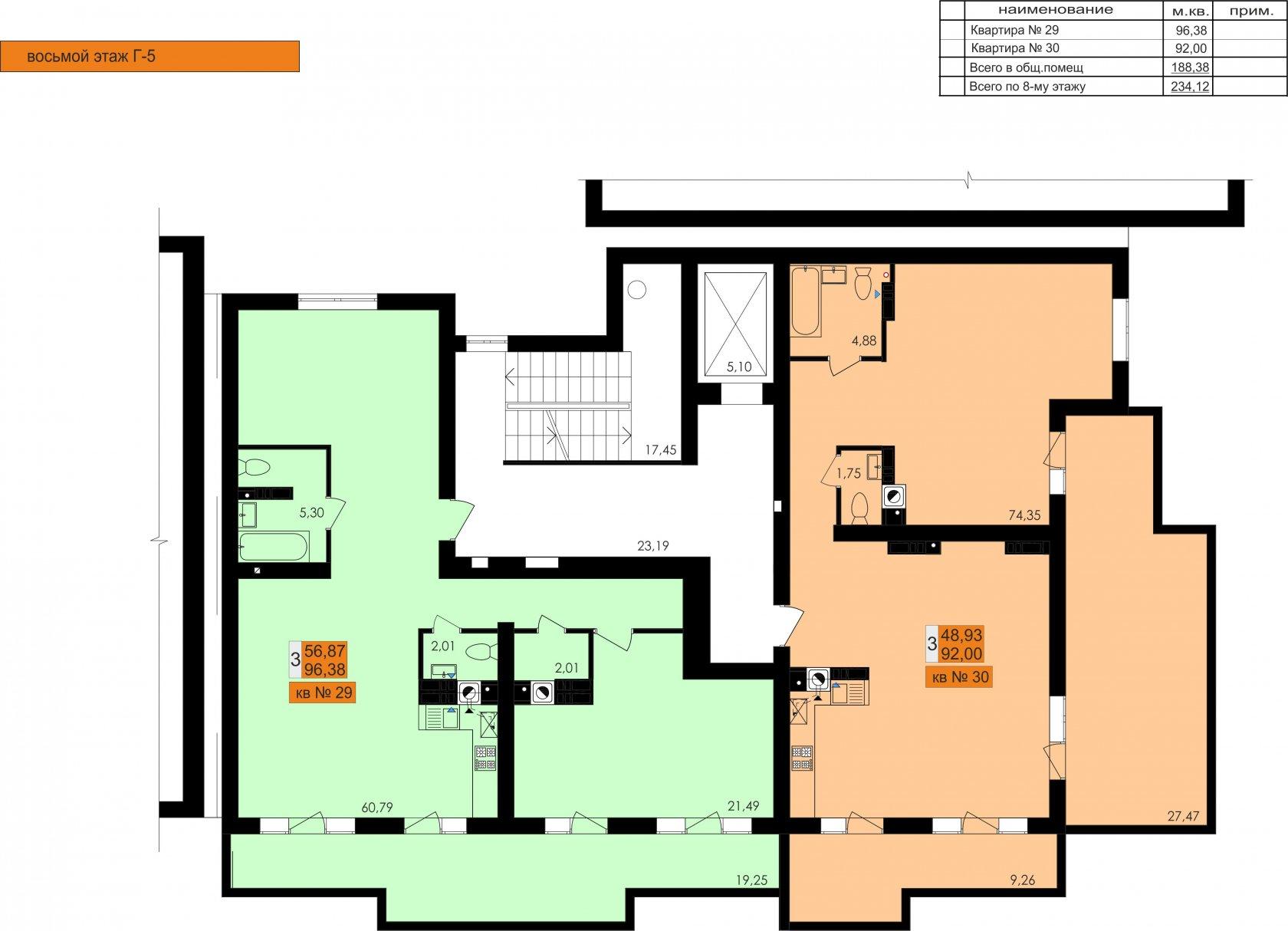 ЖК Ривьера Сити Секция Г5 8й этаж