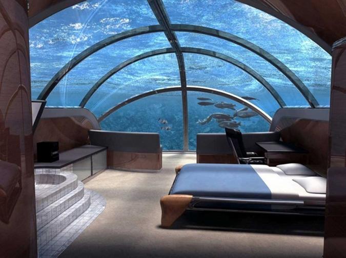 номер Poseidon Undersea Resort на острове Фиджи.
