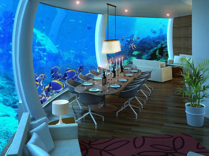 Poseidon Undersea Resort на острове Фиджи.