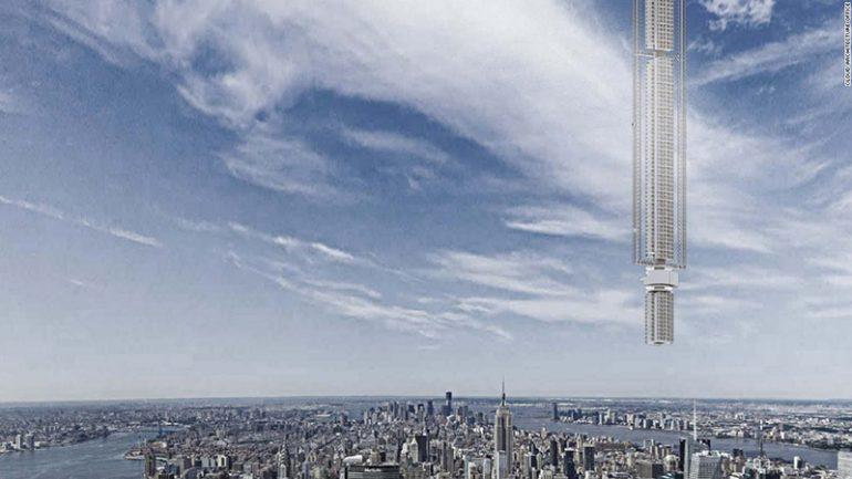 Analemma Tower небоскреб висящий с неба