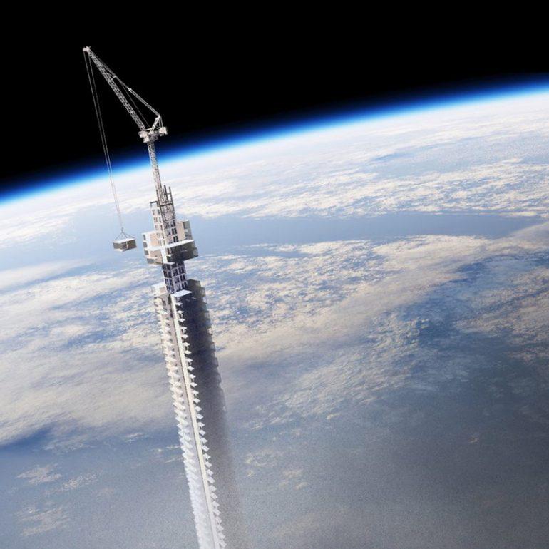 Analemma Tower небоскреб висящий с неба, строить в космосе