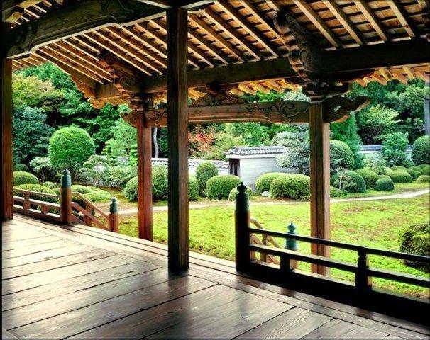 крыша традиционного японского дома
