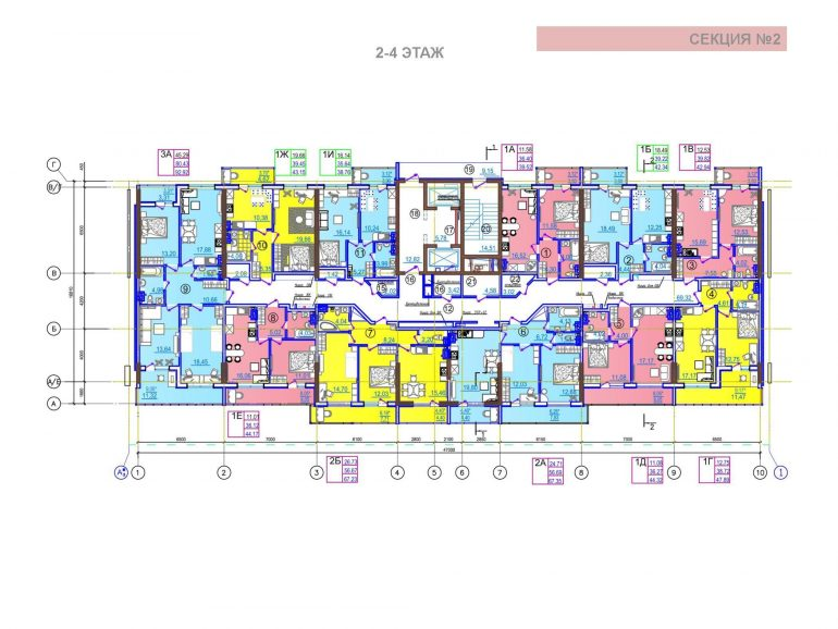 ЖК Таировские сады 2 секция 2-4 этажи
