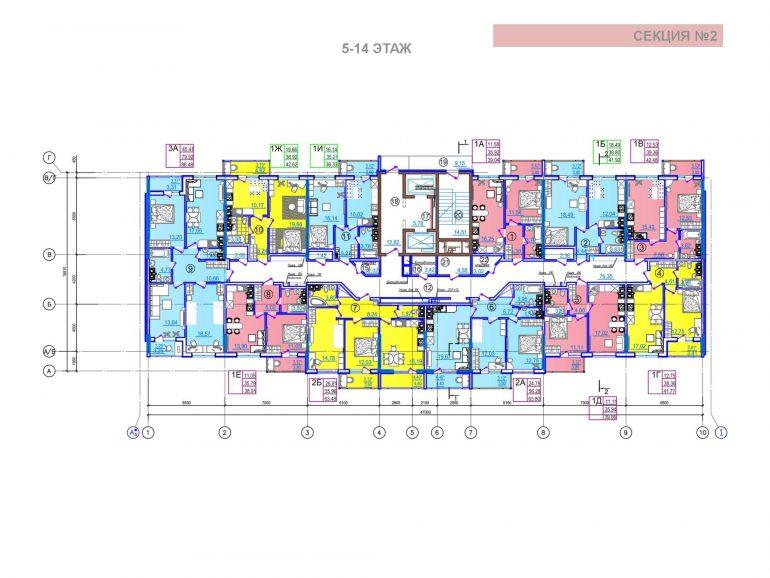 ЖК Таировские сады 2 секция 5-14 этажи