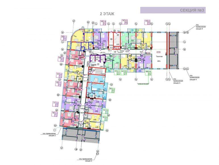 ЖК Таировские сады 3 секция 2 этаж